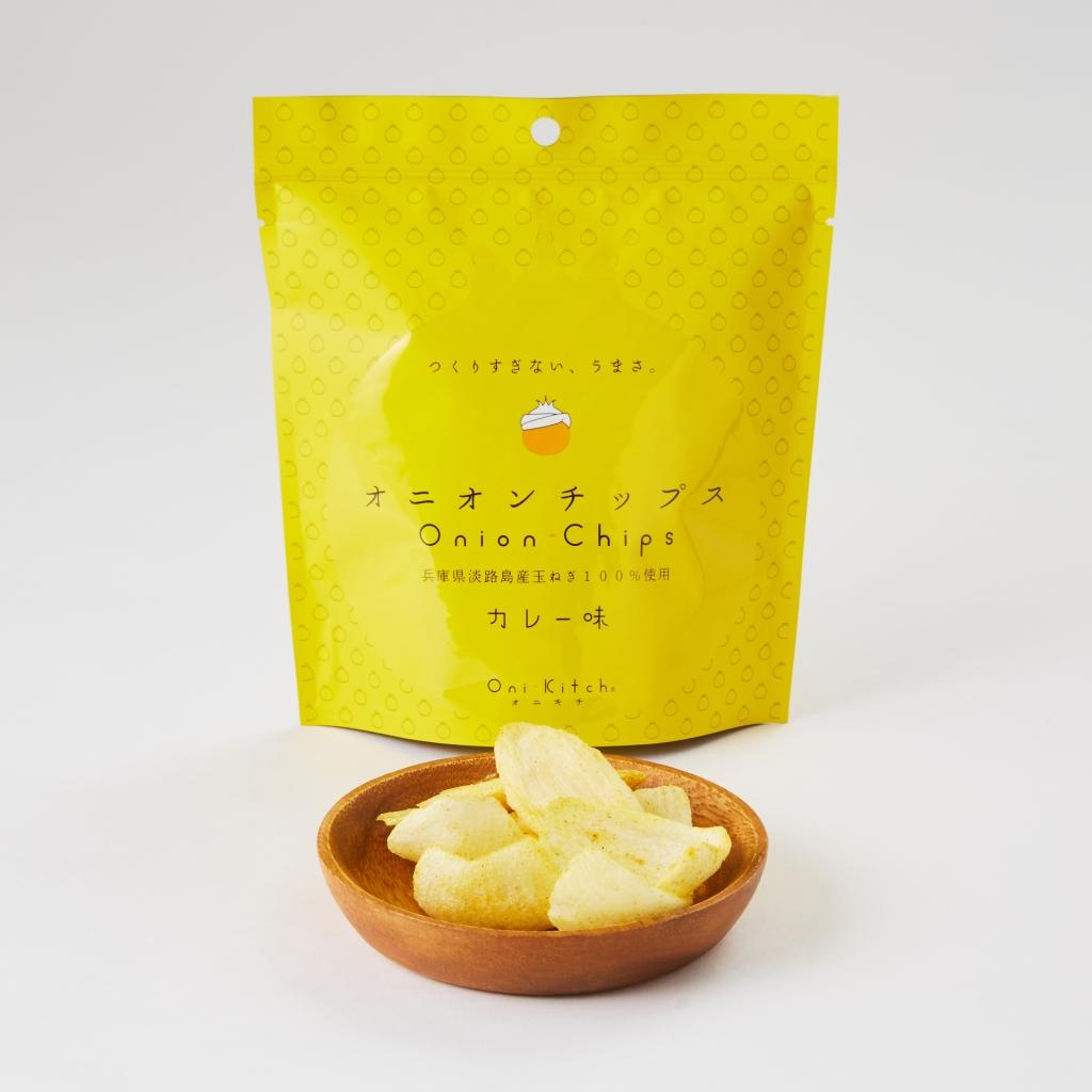 日本健康零食 淡路島洋蔥脆片 沖繩本島薑黃咖哩風味