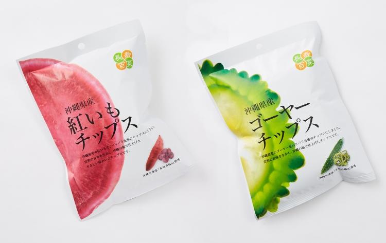 日本健康零食 沖繩縣產苦瓜脆片 紅芋紫薯脆片