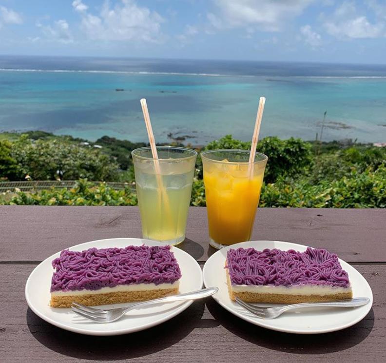 日本沖繩紫薯起司塔