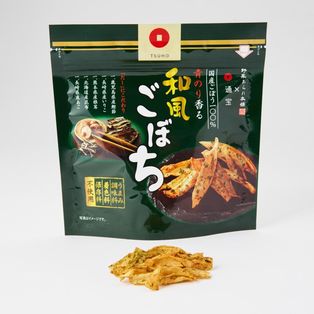GOBOCHI日本牛蒡脆片xTSUHO通寶聯名版 和風高湯牛蒡脆片 海苔風味
