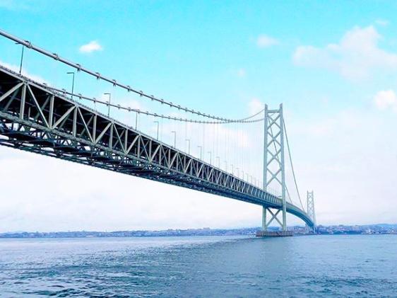 日本淡路島觀光 明石海峽大橋