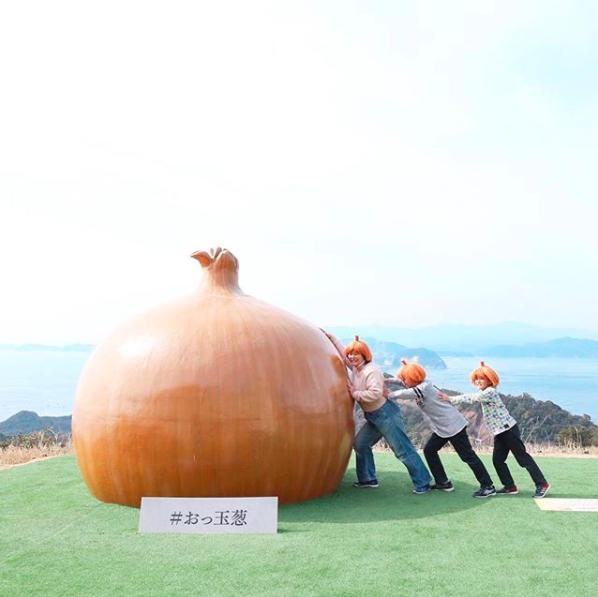 日本淡路島觀光 南淡路島洋蔥裝置藝術