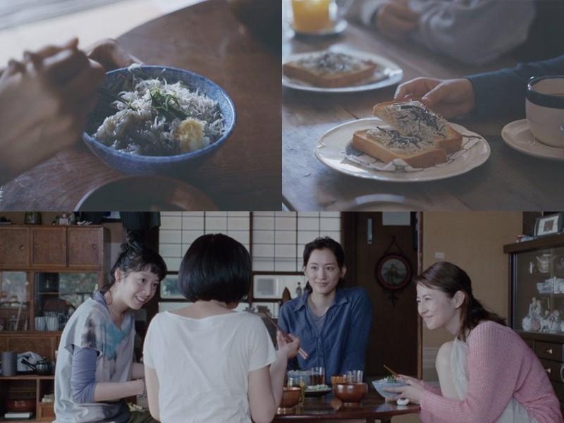新鮮吻仔魚作成的料理,是鐮倉的特色美食,也是電影中連結回憶的重要角色。